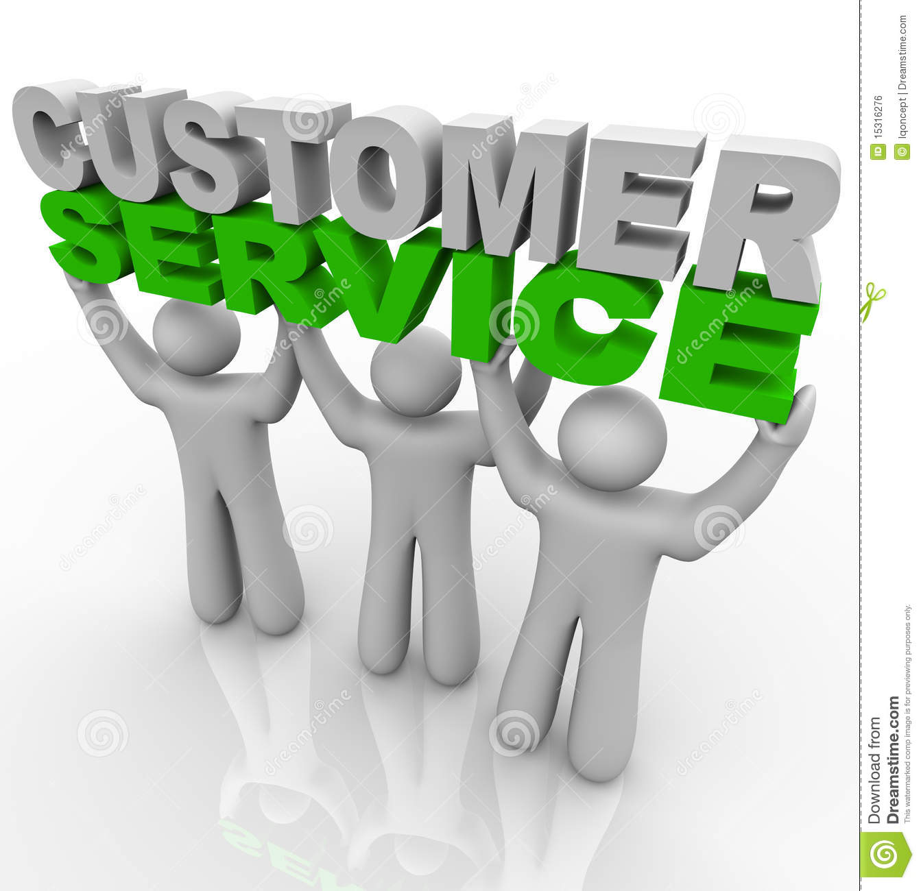 Customer Service - Lifting The Words Stock Illustration
