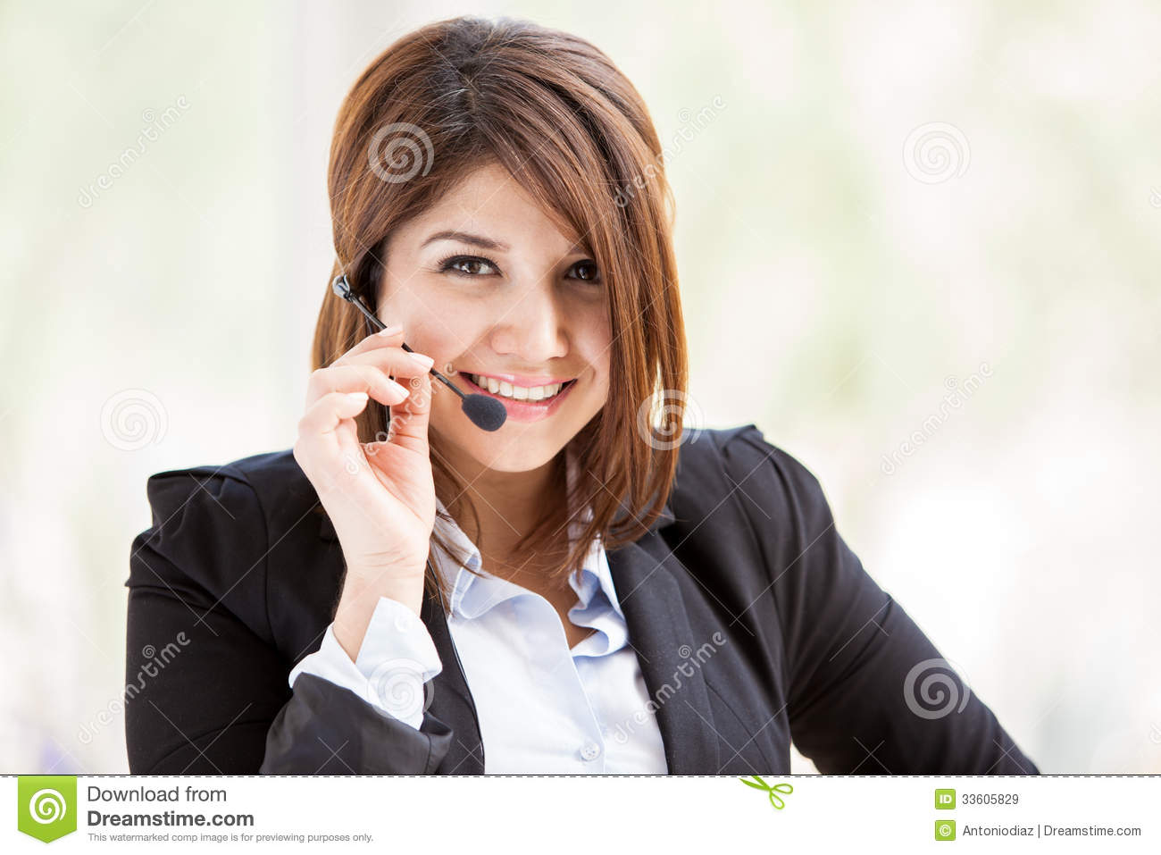 Customer Service With A Smile Stock Image