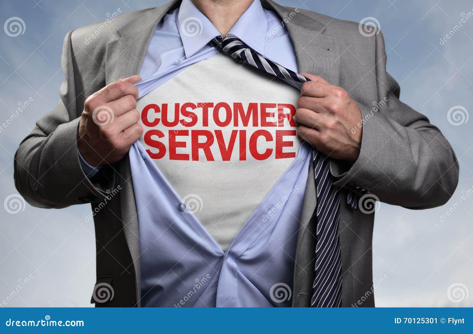 Customer service superhero