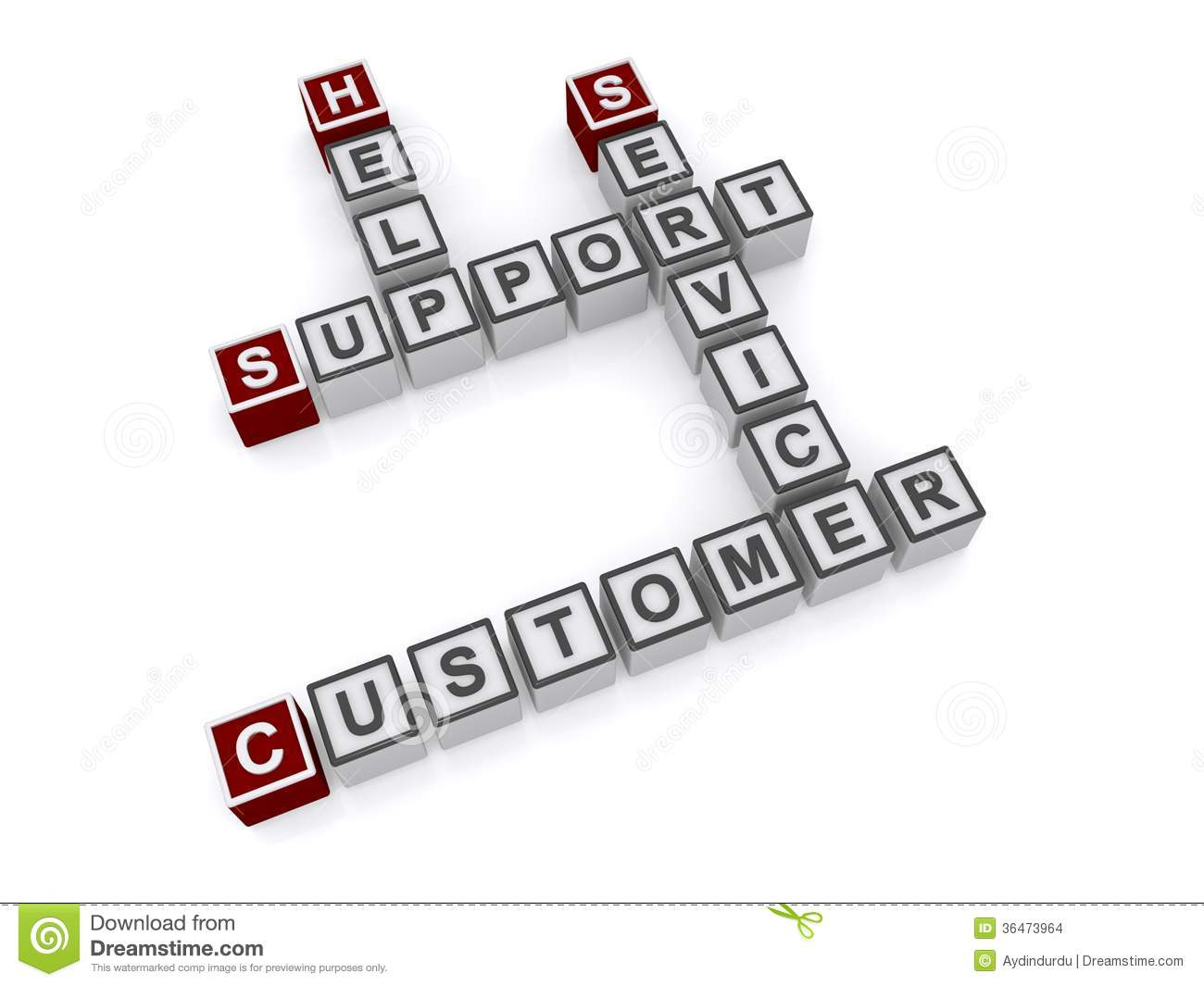 Customer Service And Support Stock Illustration