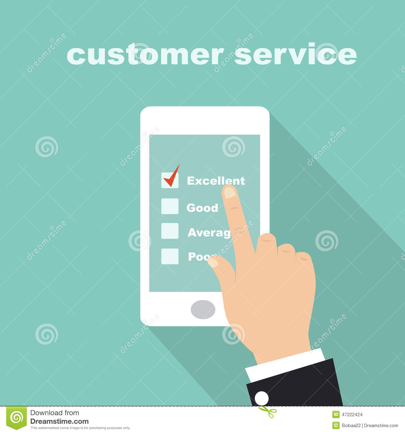 Customer Service Survey Form On Screen Mobile Stock Vector Image