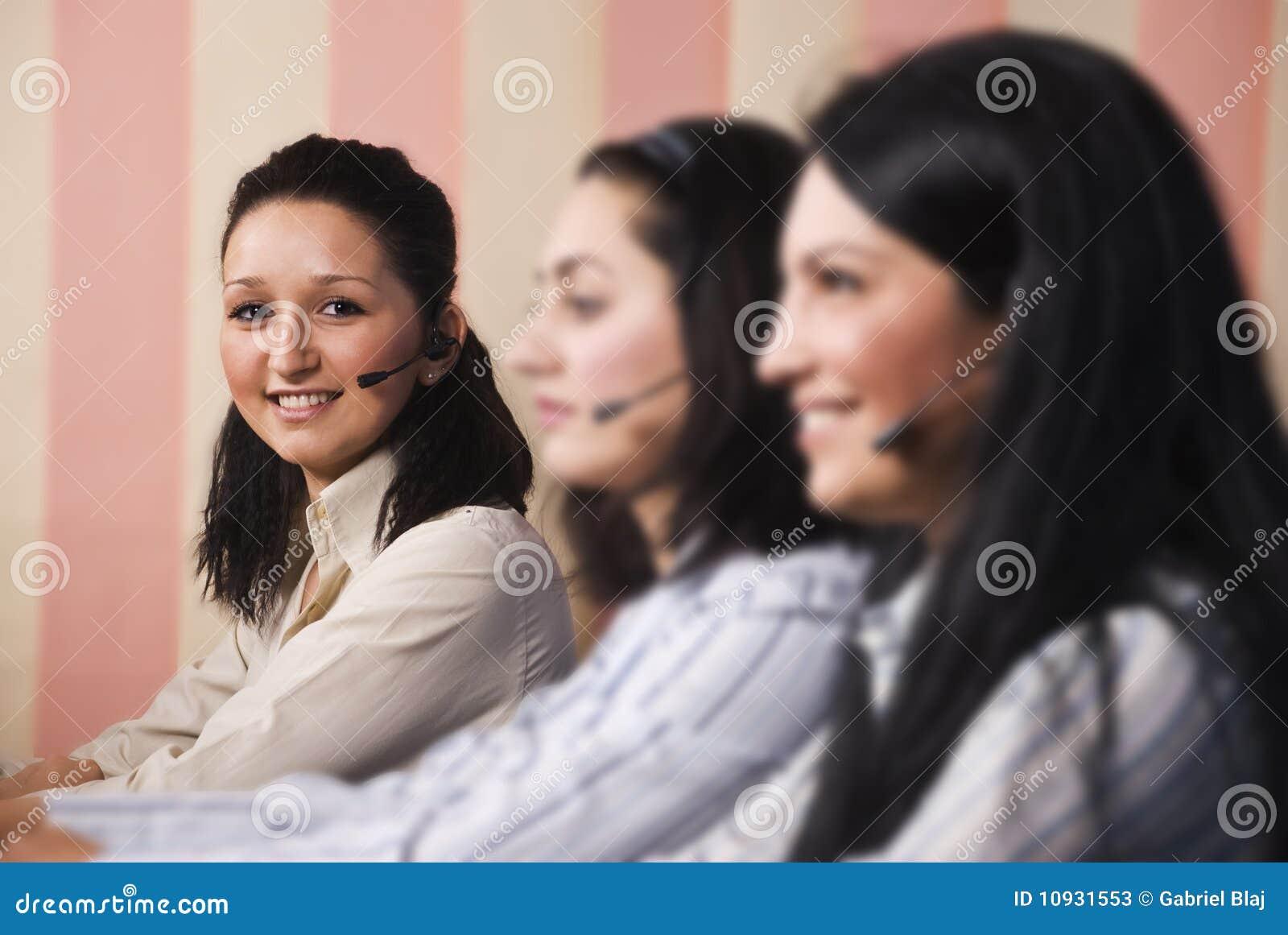 Customer service team women