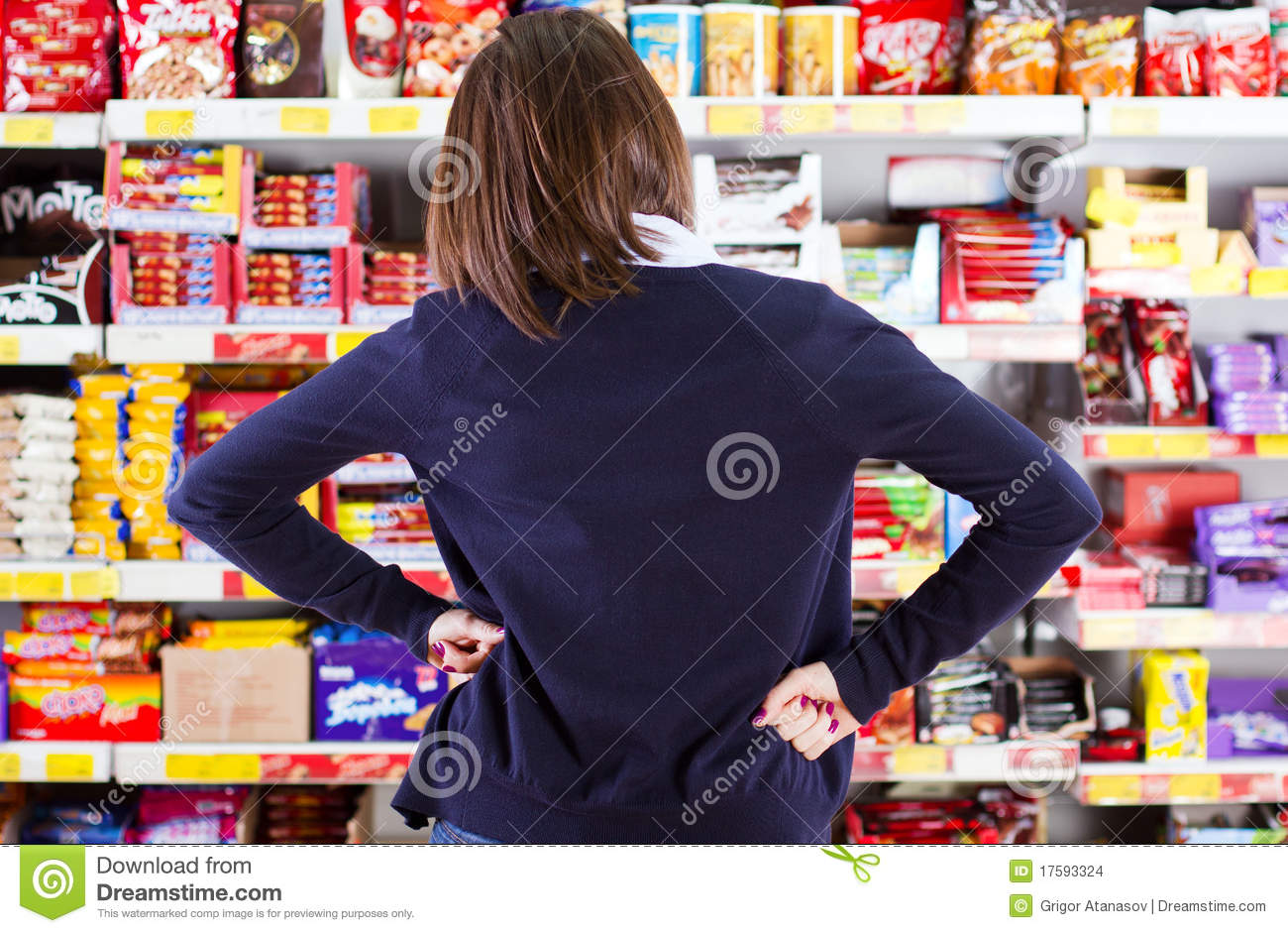 Customer Shopping In Grocery Store Editorial Stock Image ...