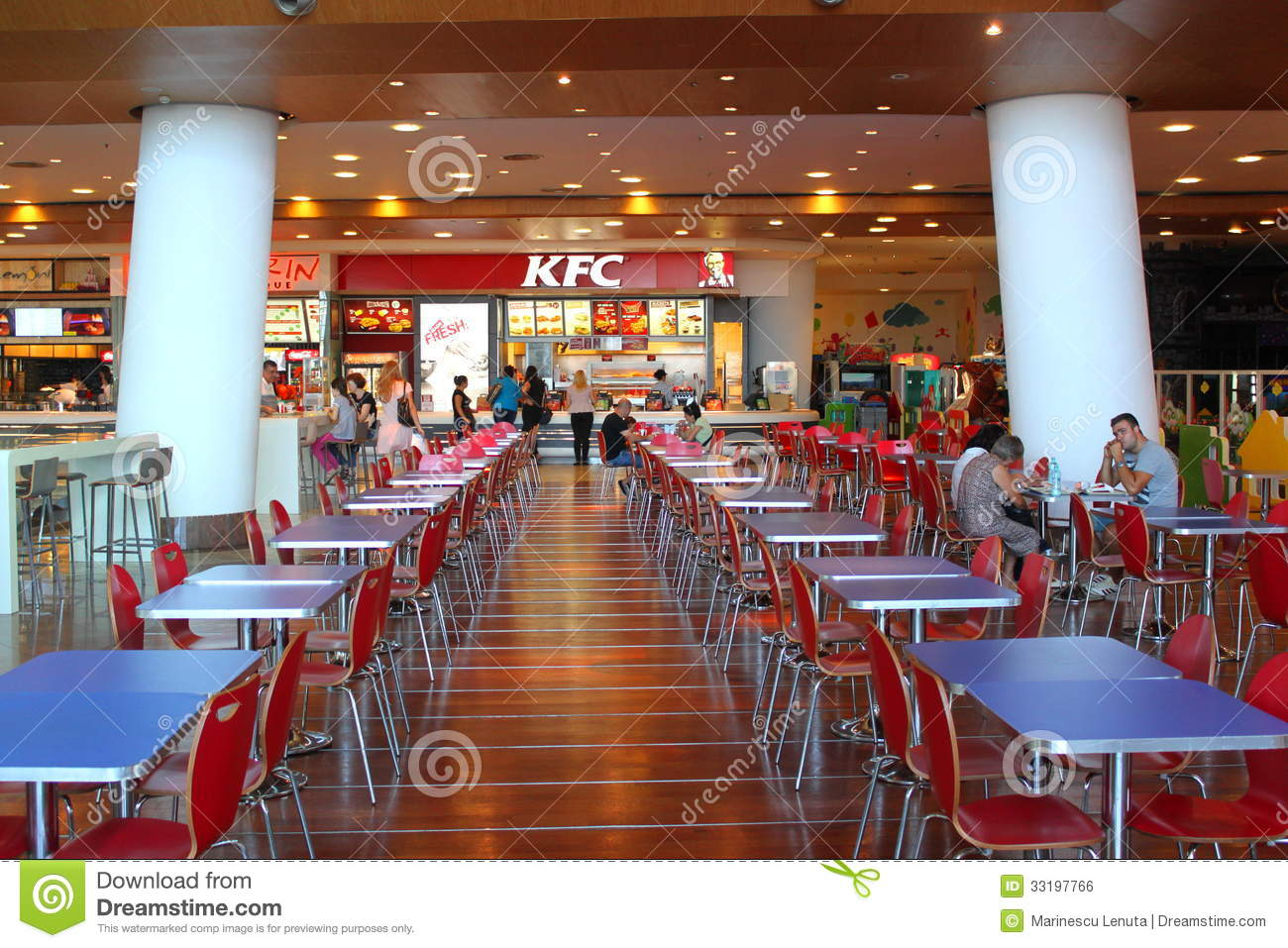 Customers buying fast food at kfc editorial photo image for Chow chow restaurante