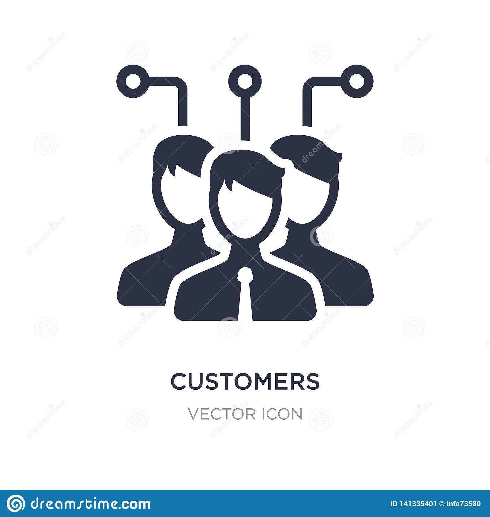 customers icon on white background. Simple element illustration from Technology concept