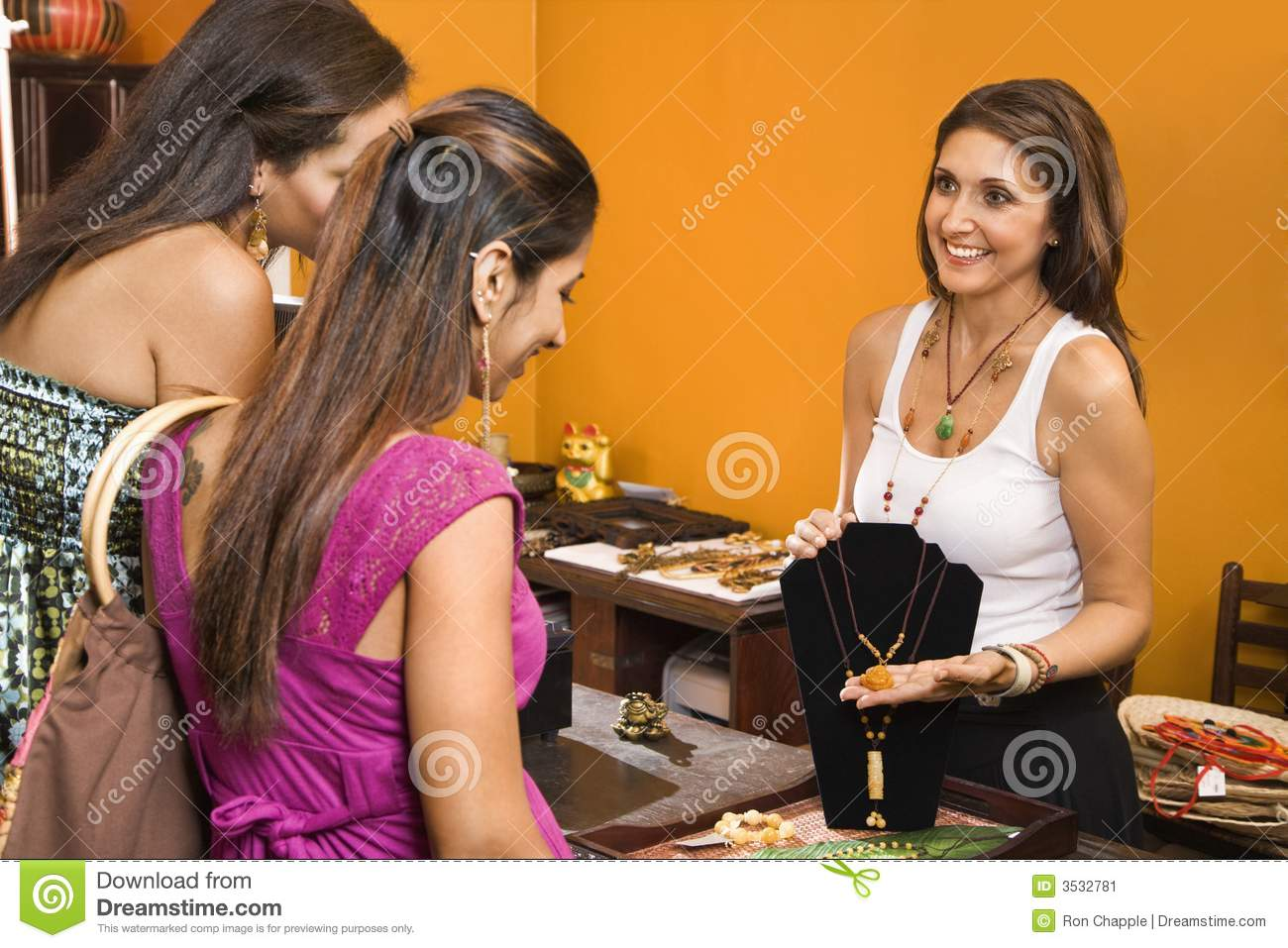 Customers And Sales Clerk. Stock Image - Image: 3532781