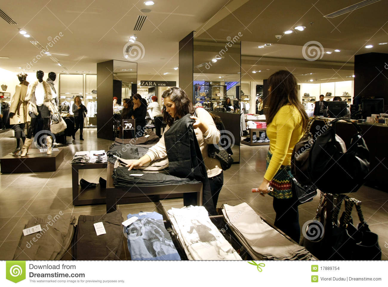 Customers Shopping In Mall - Zara Store Interior Editorial ...