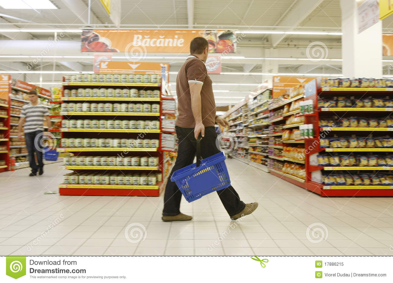 Customers Shopping At Supermarket Editorial Image - Image ...