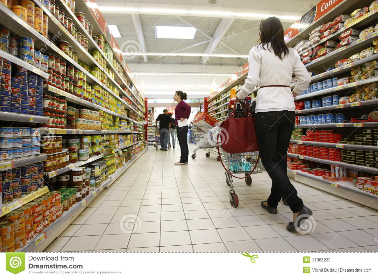Customers Shopping At Supermarket Editorial Stock Image ...