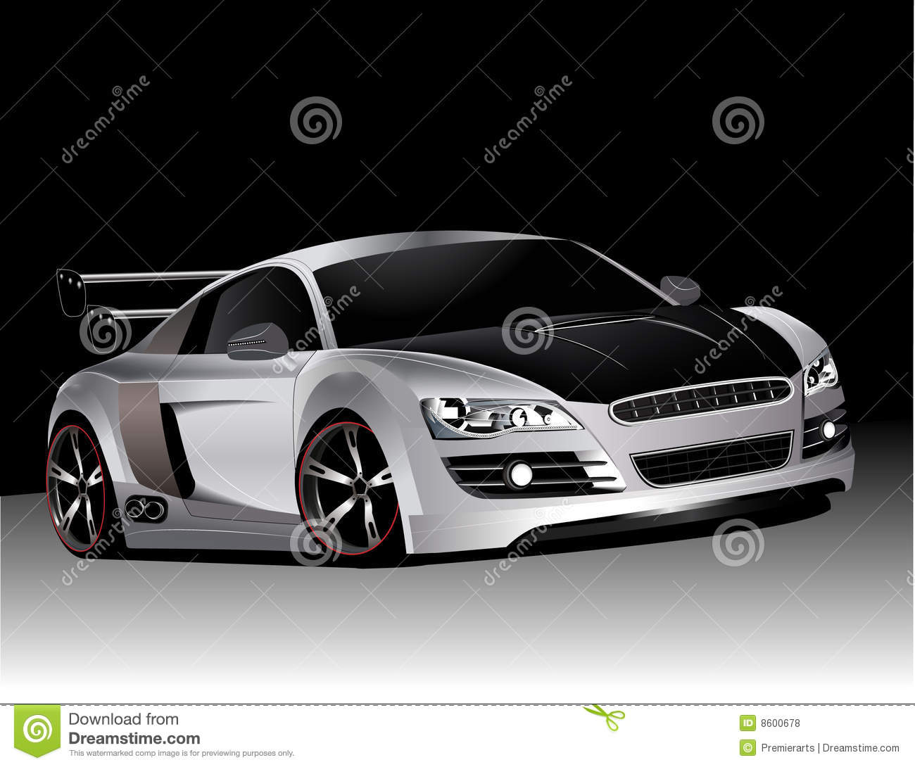 Hot Wheels Tyres >> Customized audi r8 stock vector. Image of hood, detailed - 8600678