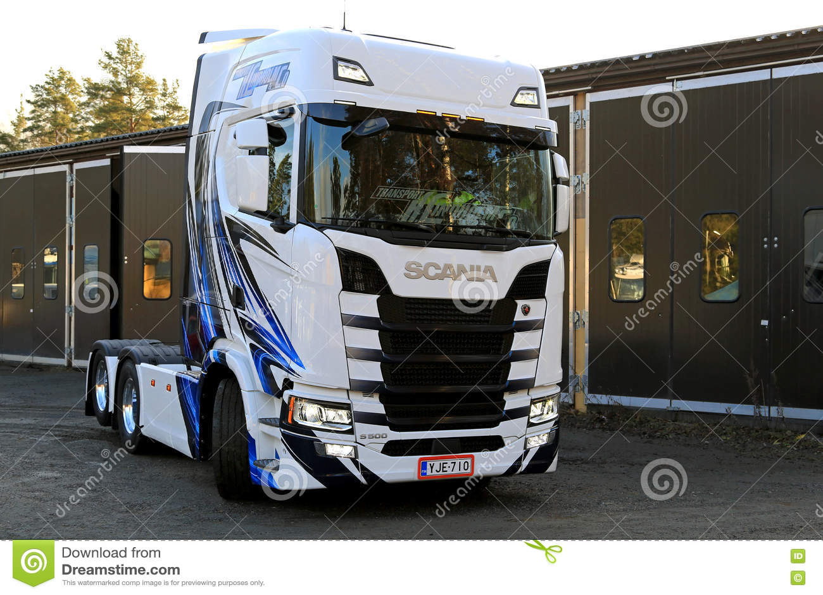 Customized NextGen Scania S500 Moving On A Yard Editorial
