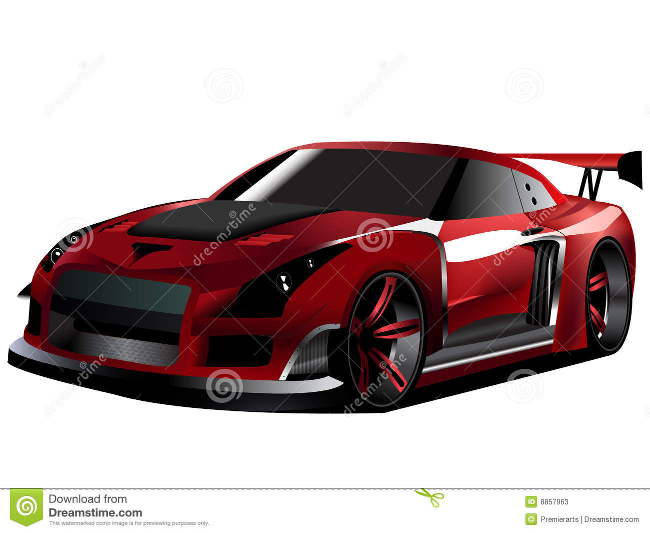 Customized Nissan Gtr Turbo Drifting Stock Photos Image