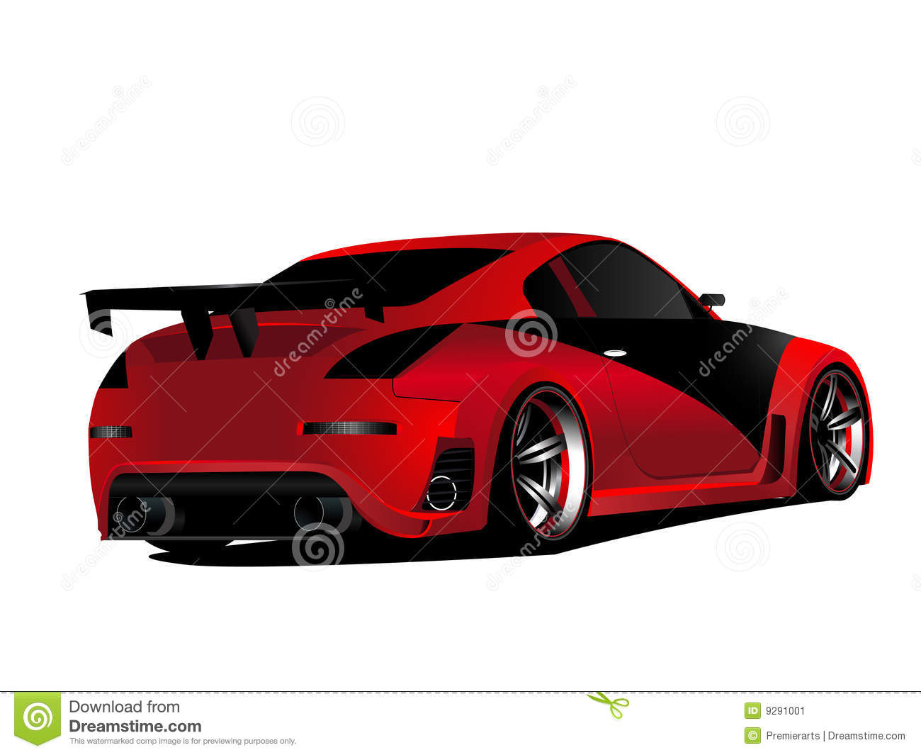 customized red nismo nissan 350z turbo drifting stock illustration illustration of design. Black Bedroom Furniture Sets. Home Design Ideas