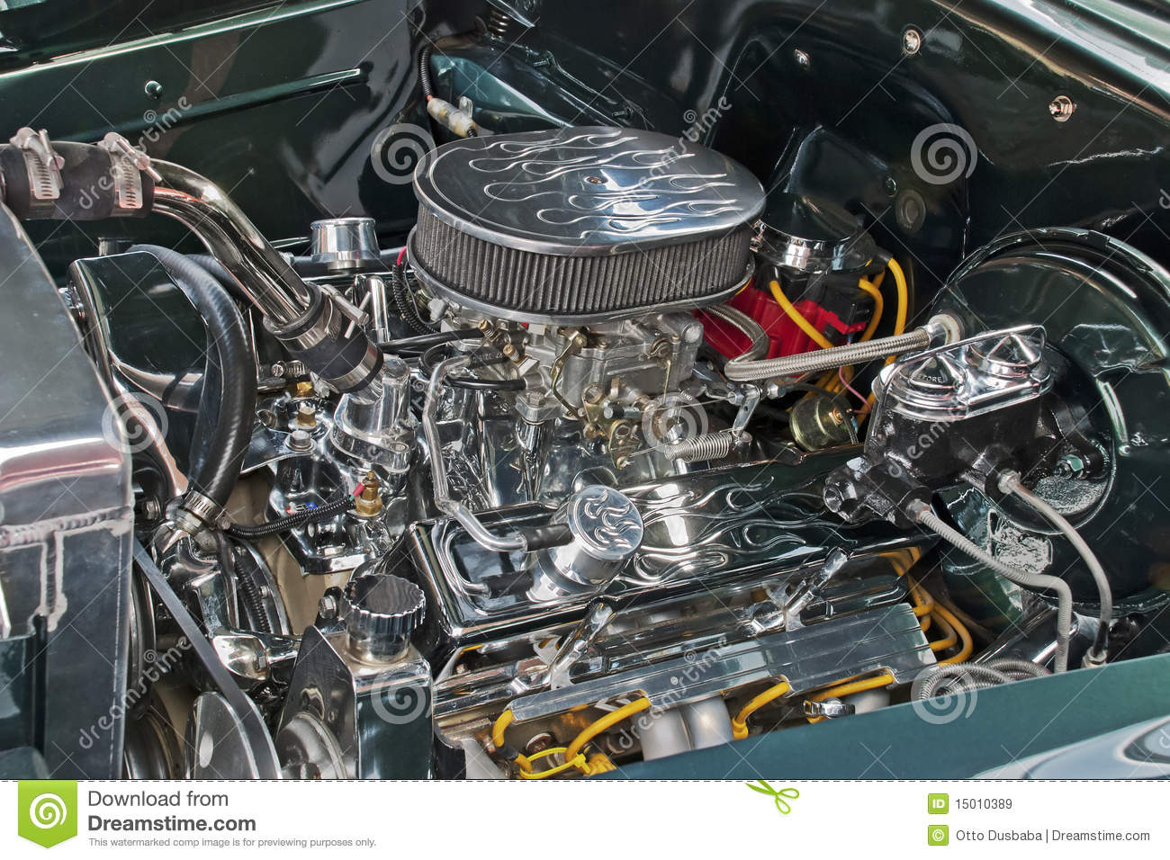 customized  engine compartment royalty  stock images image