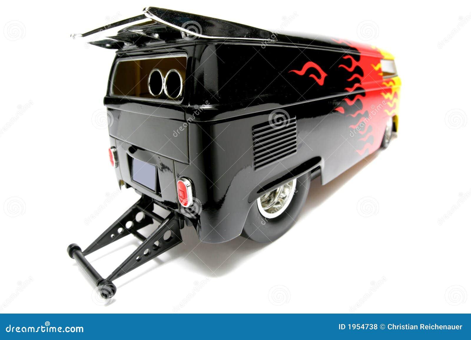 Customized VW Drag Bus scale car fisheye #3