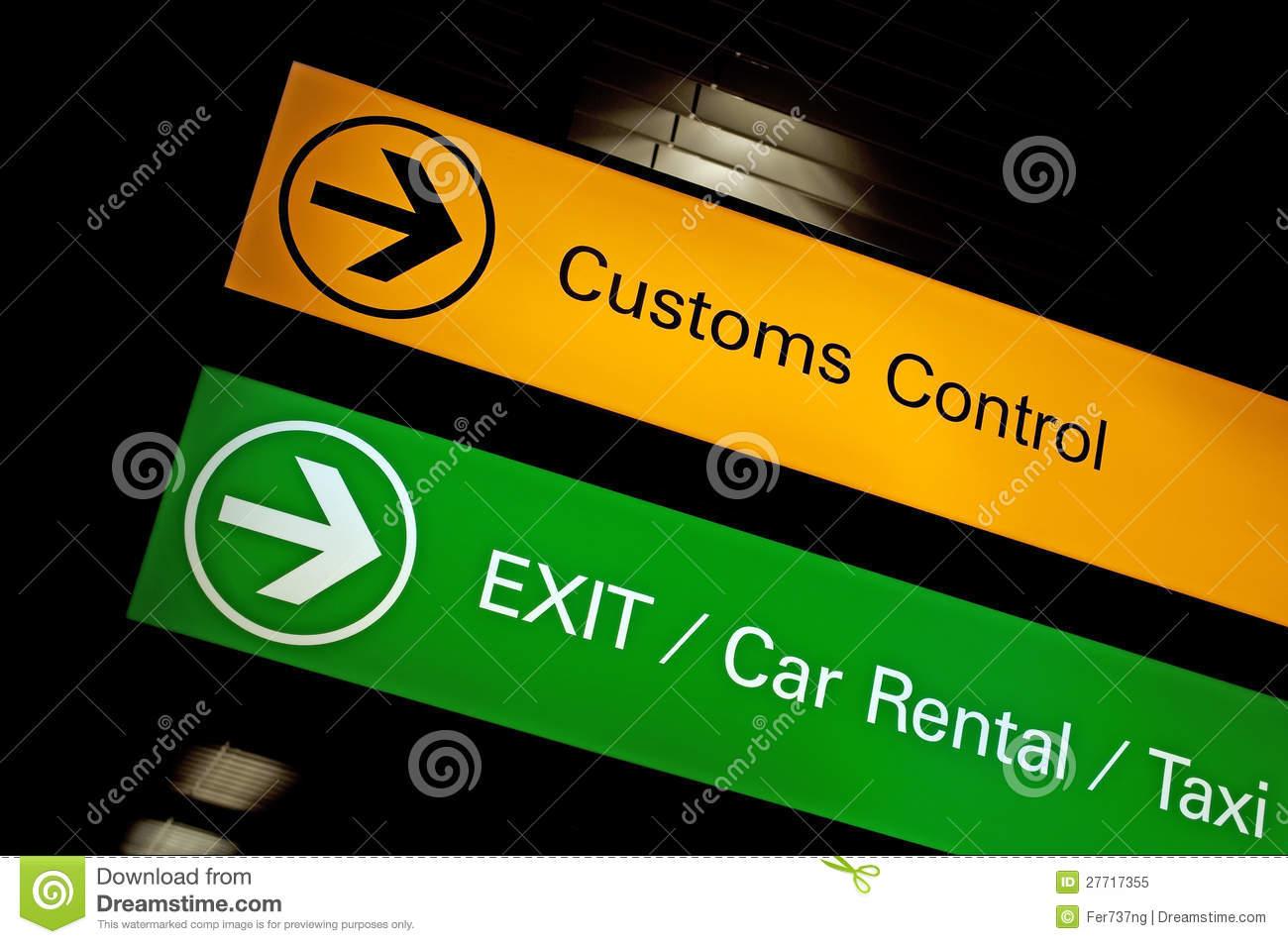 Customs Control Sign Royalty Free Stock Photo Image