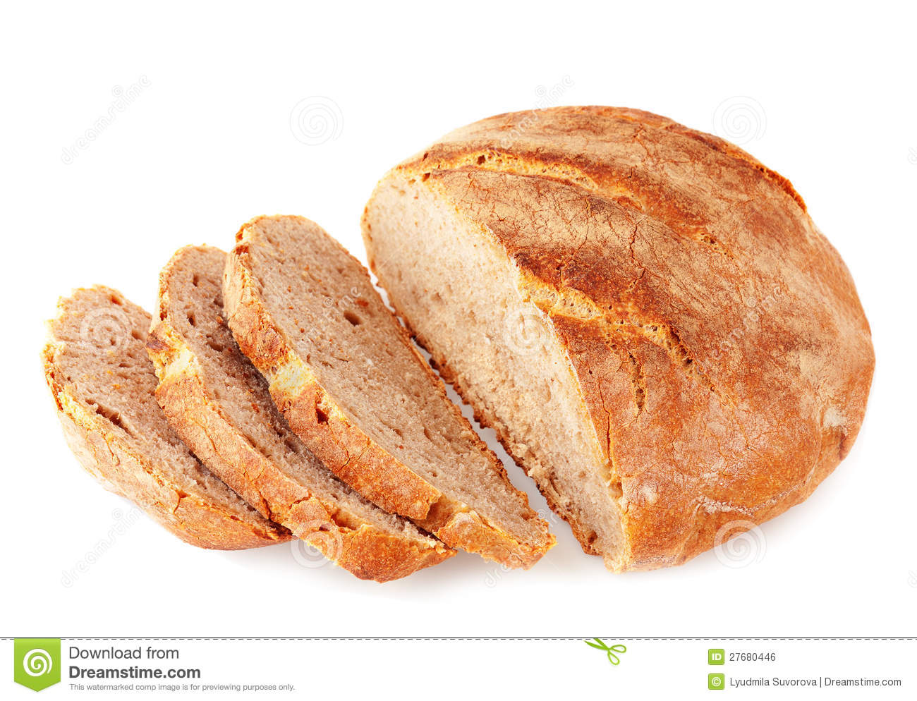 Cut Artisan Bread Stock Photo Image Of Fresh