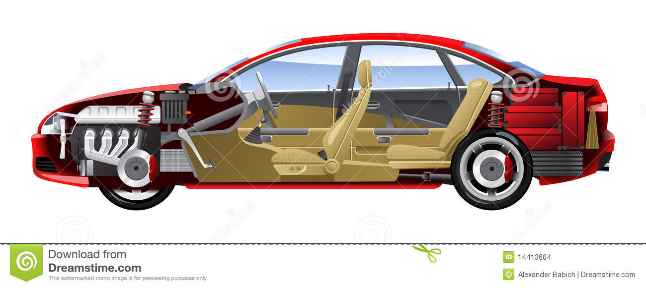 Cut away Car Stock Images Image 14413604