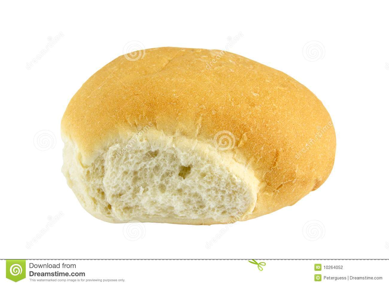 Cut Bread Roll 1 Stock Photography - Image: 10264052