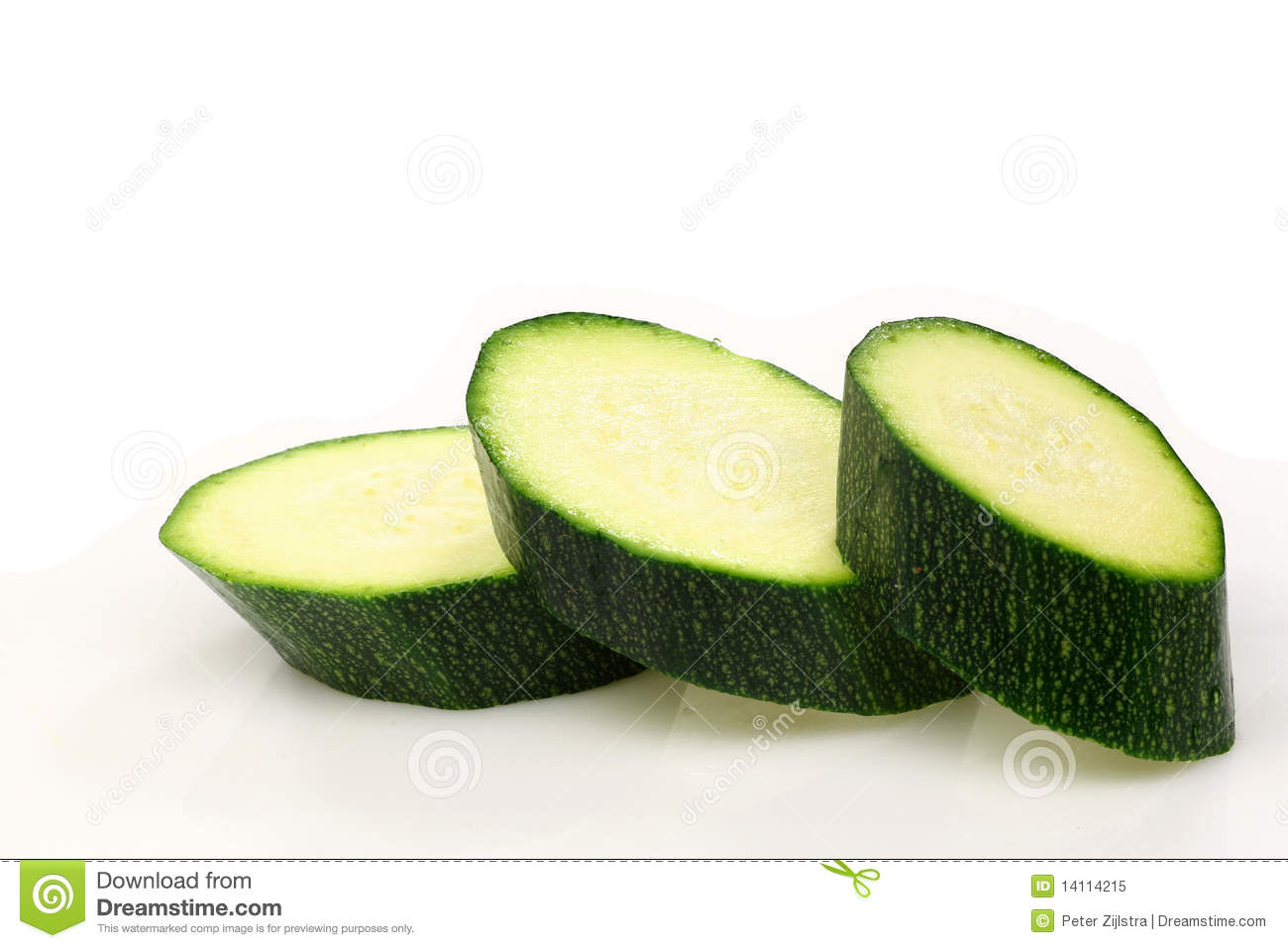 Cut courgette or zucchini stock image. Image of slices ...