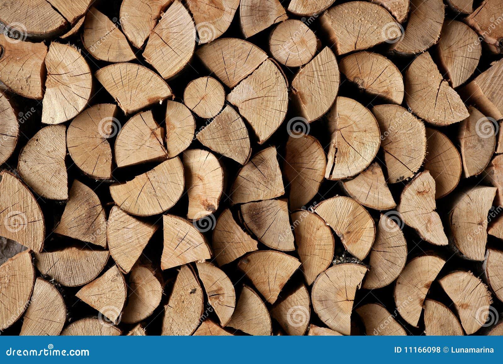 Cut Firewood Stack Logs As Pattern Stock Photo - Image of lumber ...