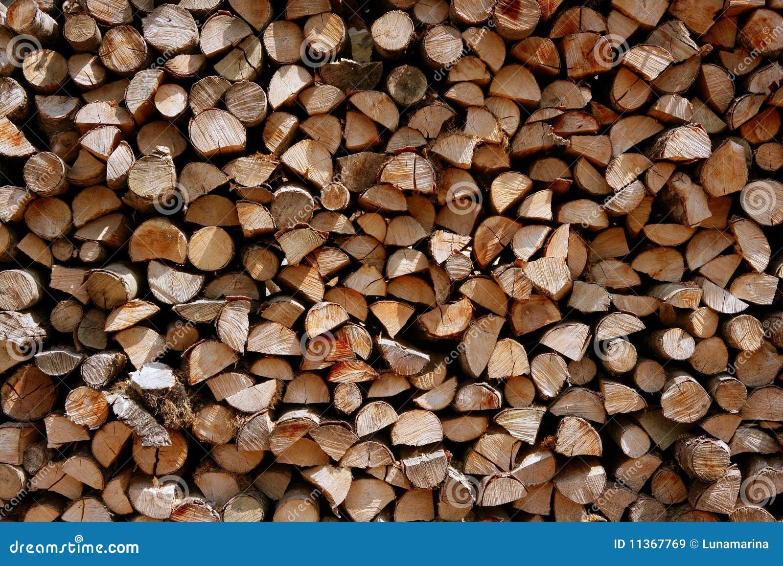 Cut Wood Logs ~ Cut firewood stack logs as pattern stock image of