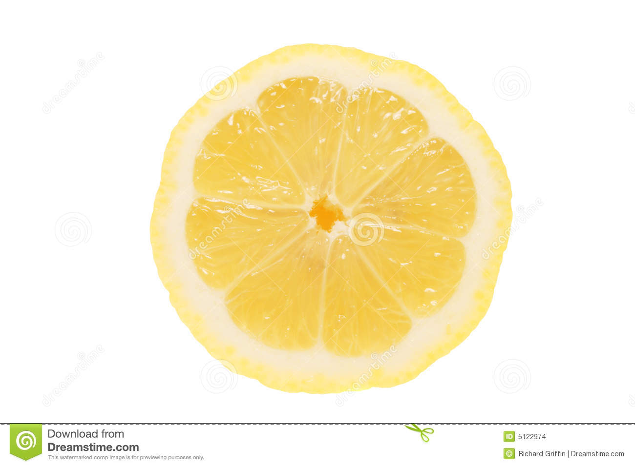 Half a lemon isolated on a white background.