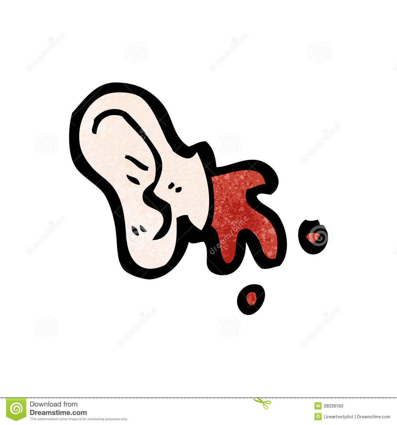Cut Off Ear Cartoon Stock Photo - Image: 38038160