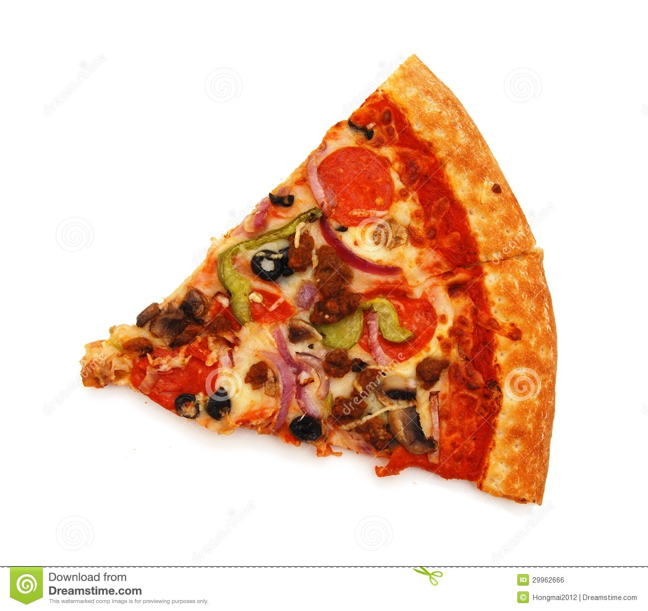 Cut Off Slice Pizza Royalty Free Stock Image - Image: 29962666