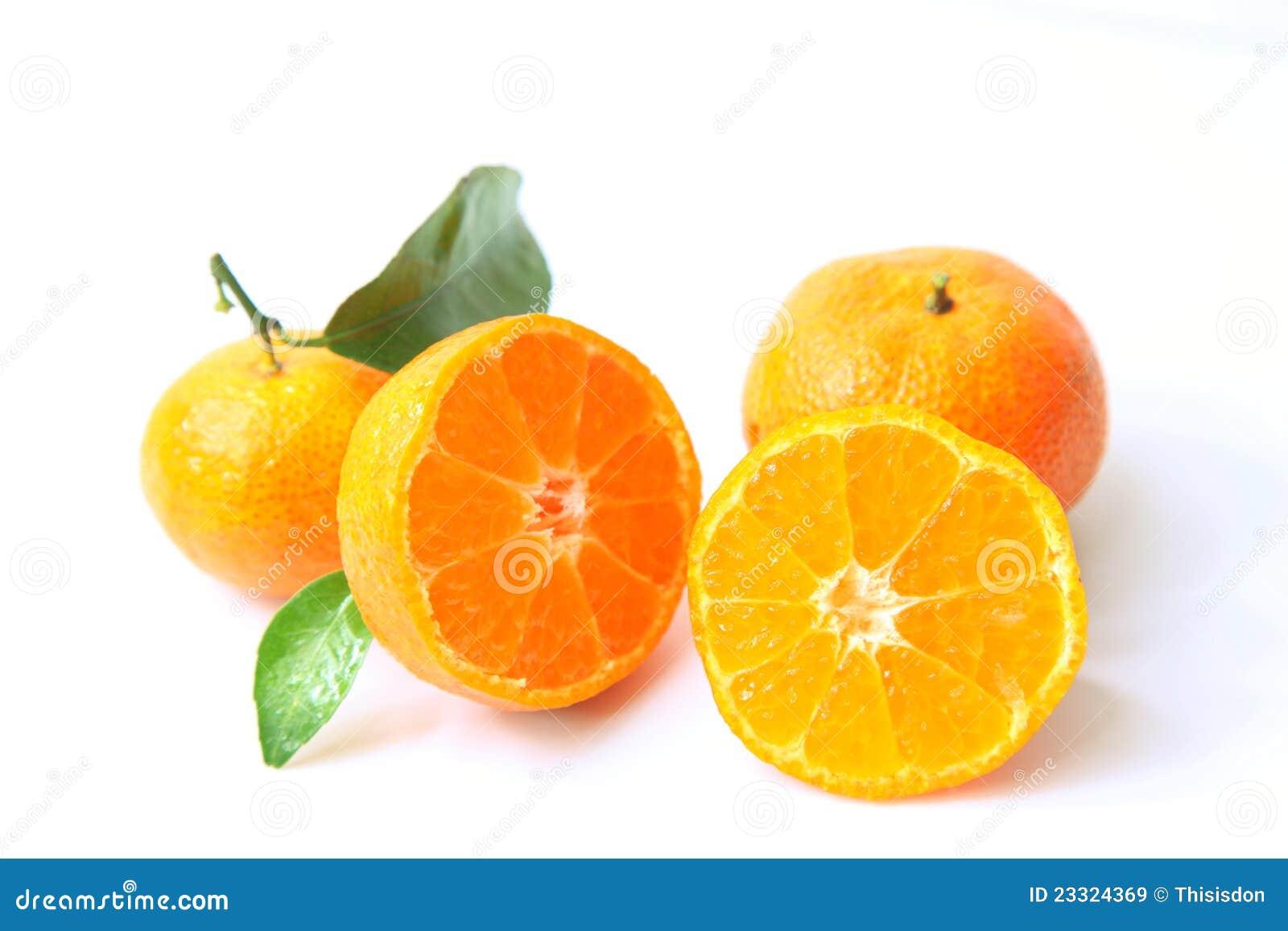 Cut Open Orange Royalty Free Stock Images - Image: 23324369