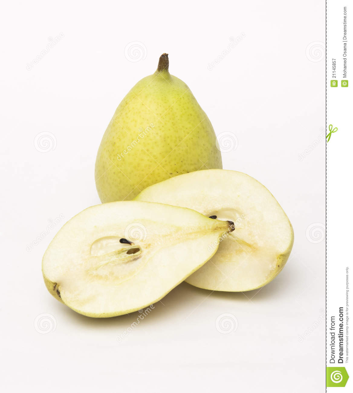 Cut Open Pear Royalty Free Stock Photography Image 21145857