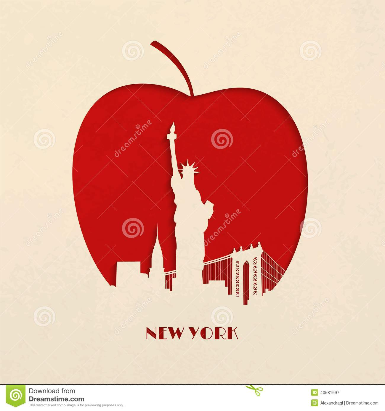 ... silhouette of New York skyline and statue of Liberty on the Big Apple