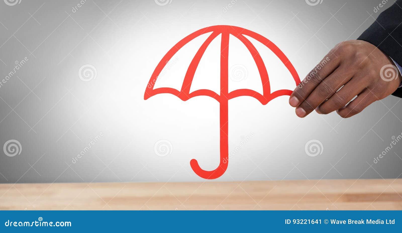 Cut Out Umbrella In Hand