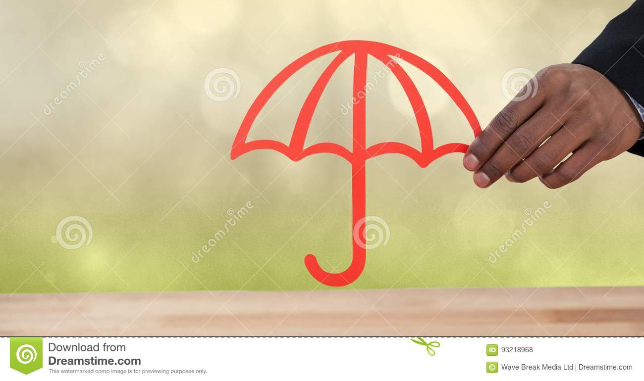 Cut Out Umbrella For Protection With Green Nature