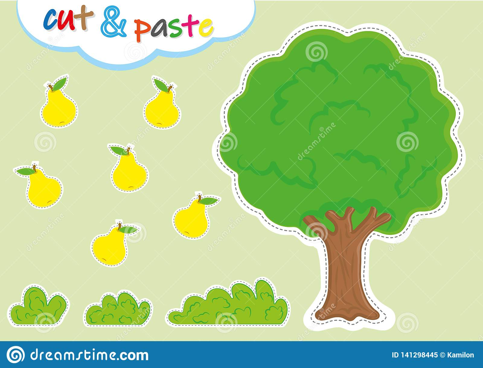 Cut And Paste Activities For Kindergarten, Preschool Cutting ...