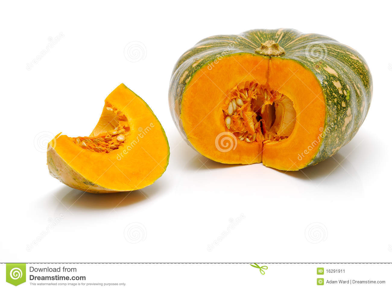 Cut Pumpkin Isolated Stock Image Image 16291911