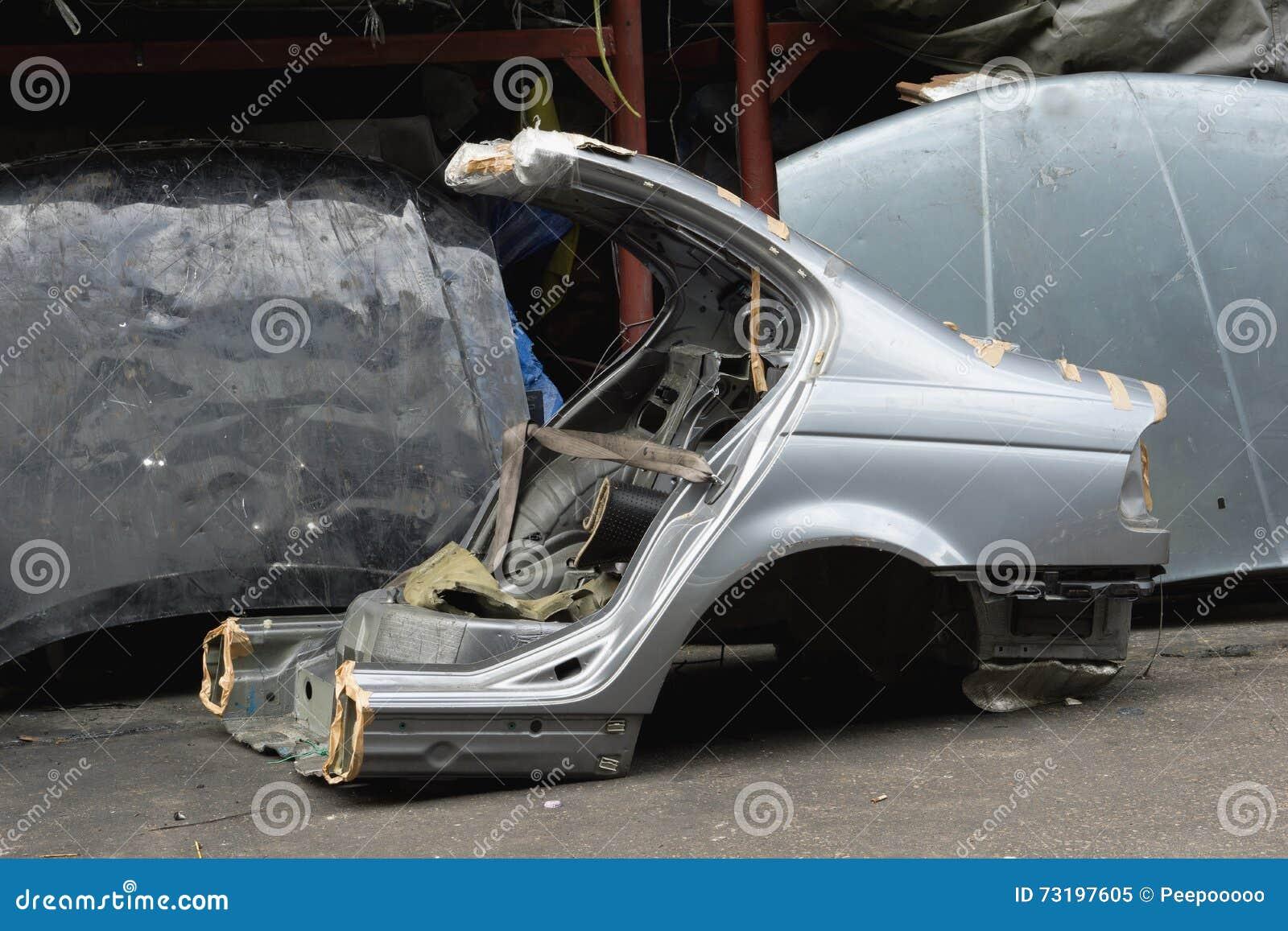 Cut used car body stock image. Image of garage, mechanic - 73197605