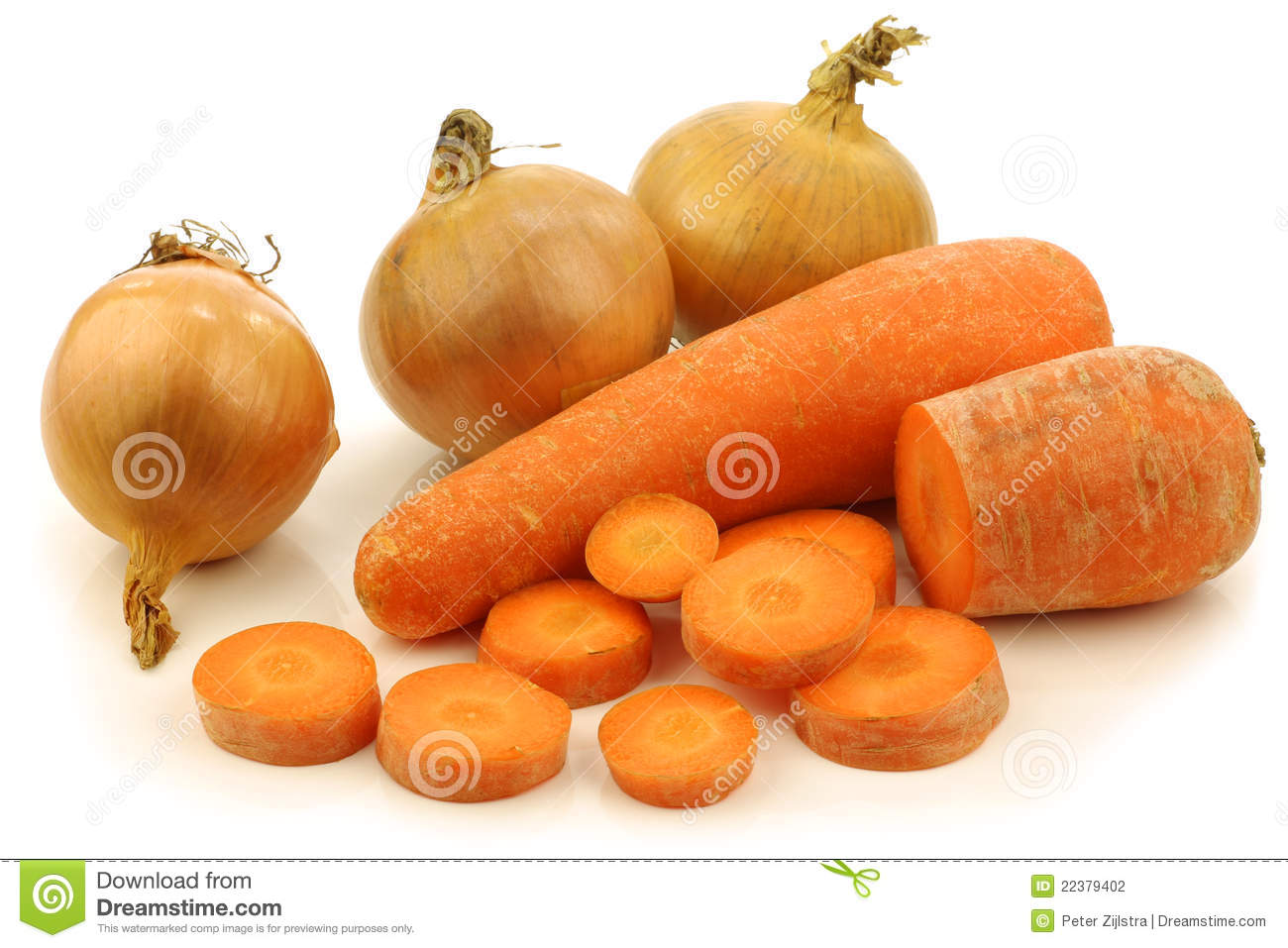 Cut Winter Carrots And Some Fresh Onions Stock Photography Image 22379402
