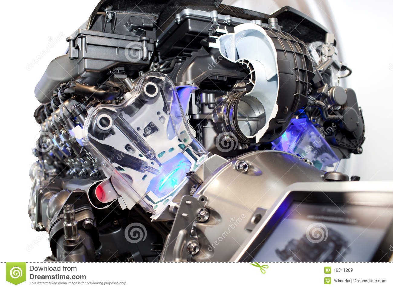 cutaway view   car engine royalty  stock images image