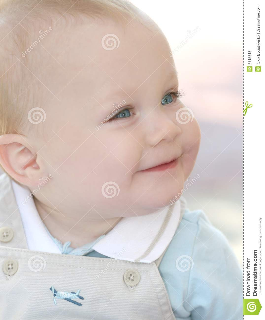 Cute, Adorable Baby Boy With Blue Eyes Stock Photos ...