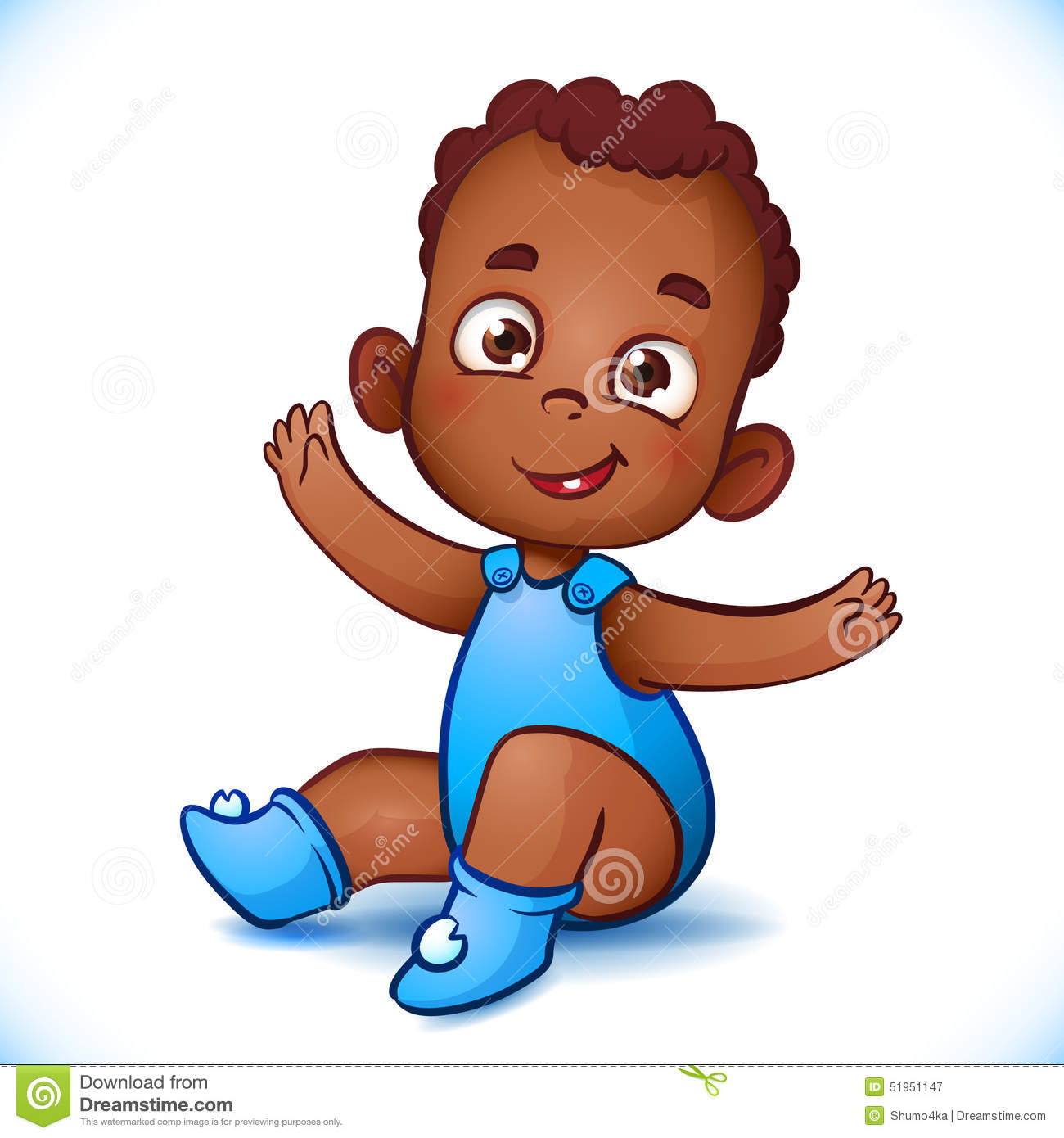 cute african american baby boy happy child with stock vector rh dreamstime com black baby cartoon characters black child cartoon