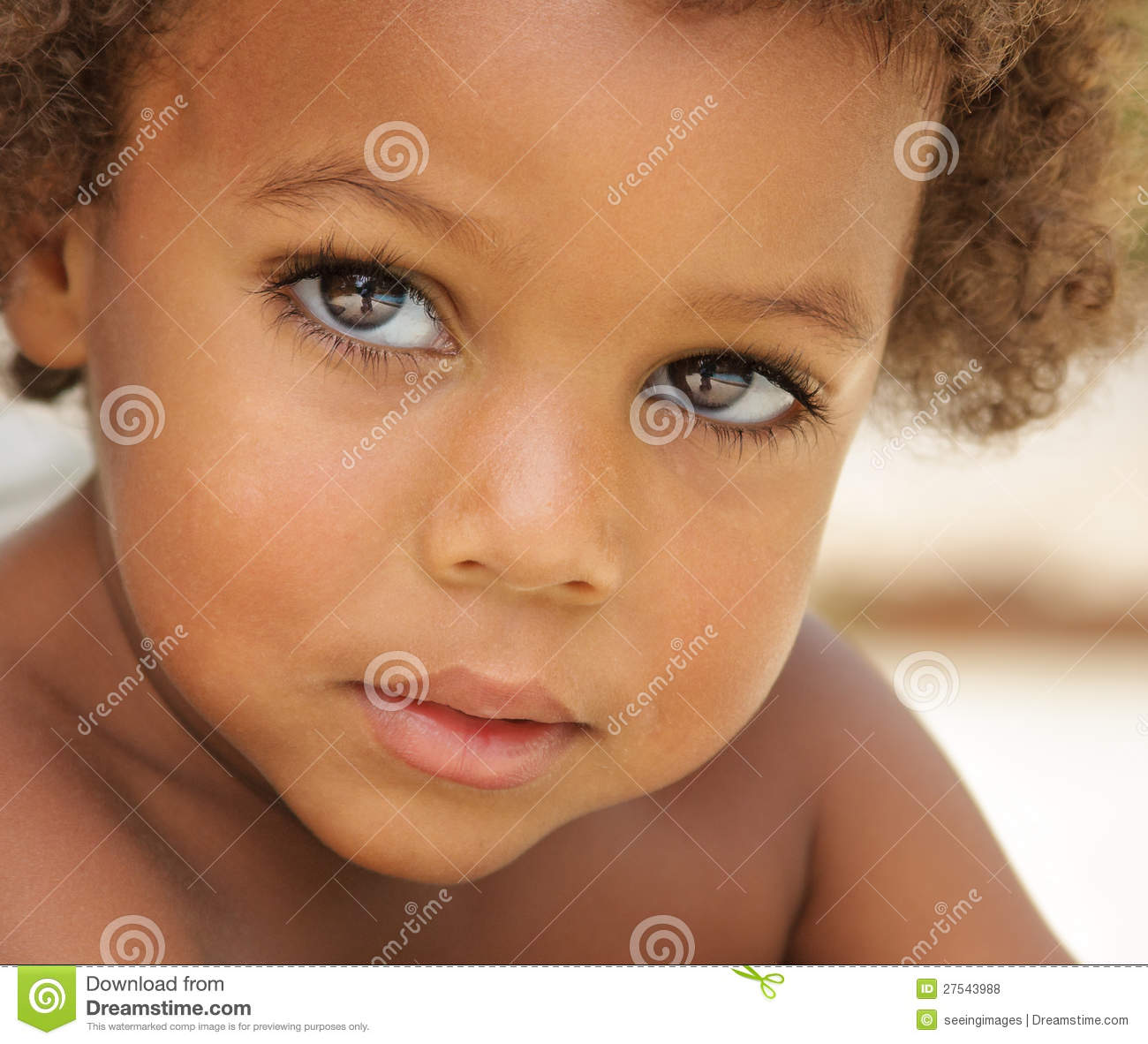Cute African American boy stock photo. Image of looking ...