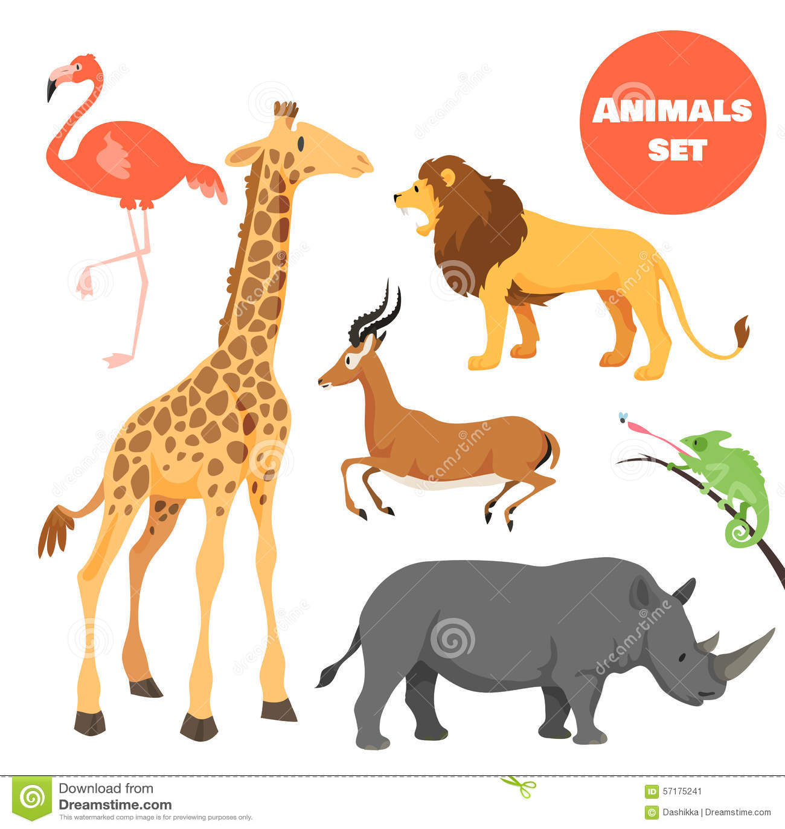 Animals cartoon for kids