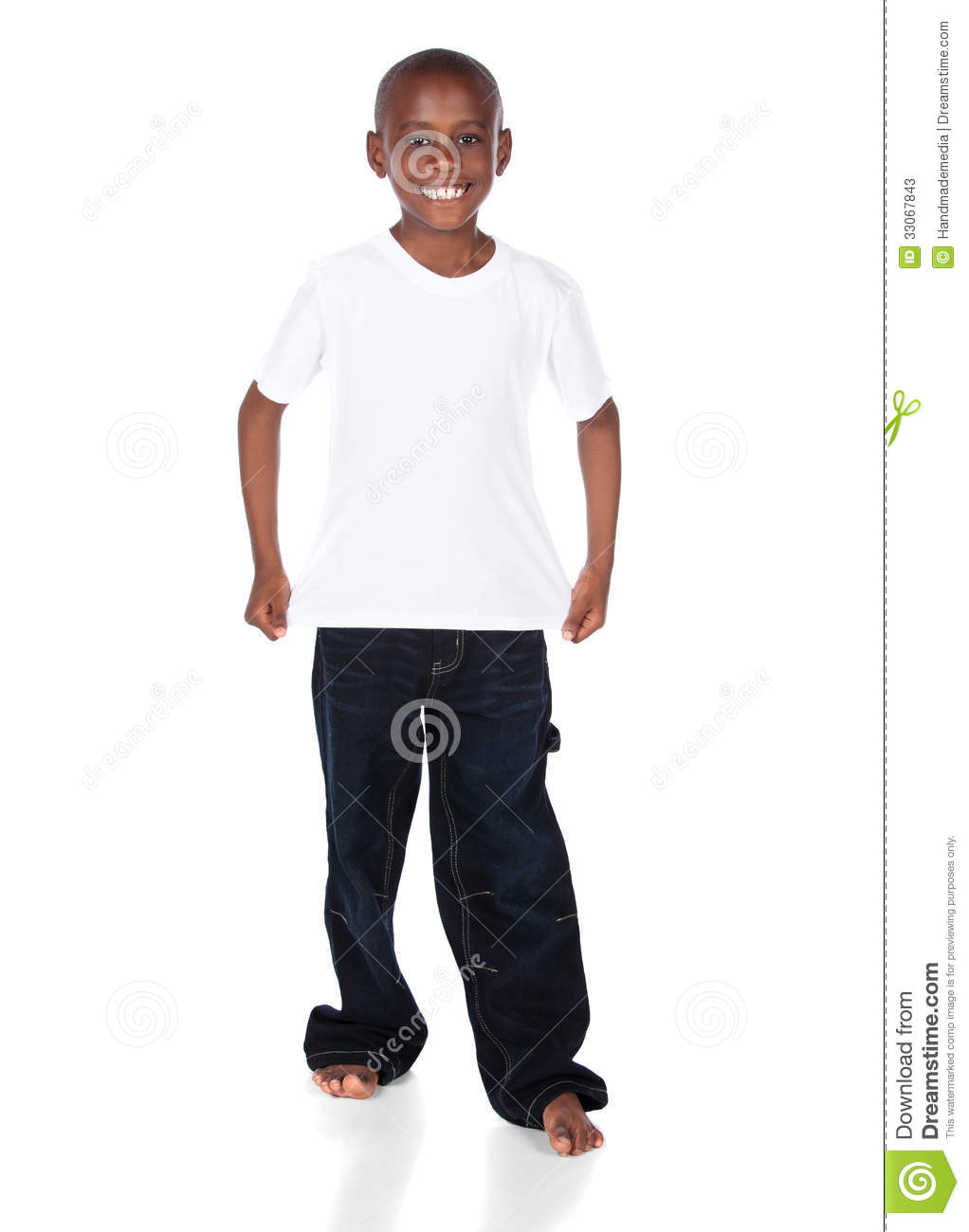 Cute african boy stock image image of american child Boy white t shirt
