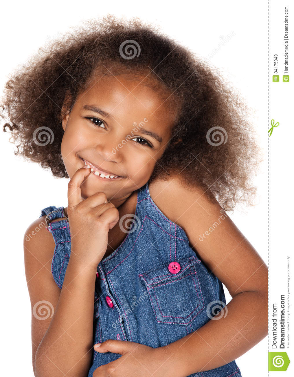 Cute African Girl Stock Image Image Of Beautiful Innocent