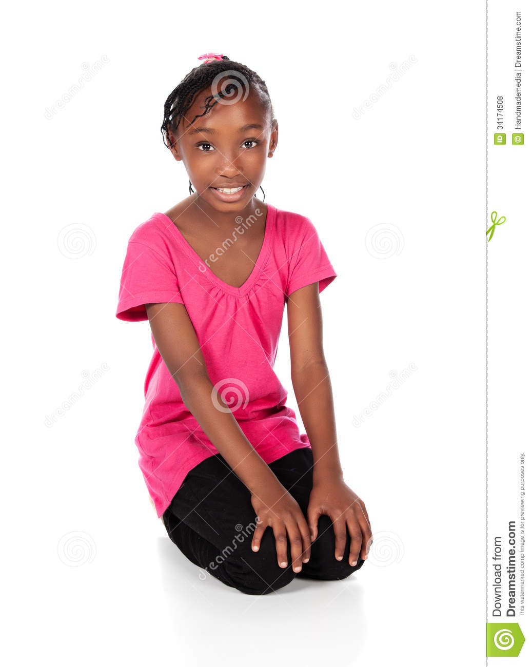cute african girl stock photo image of joyful beautiful 34174508. Black Bedroom Furniture Sets. Home Design Ideas