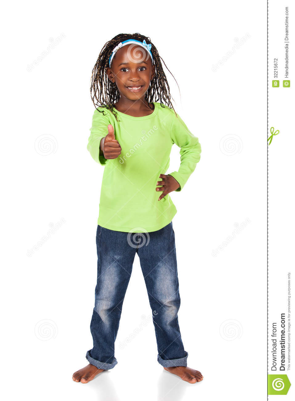 Cute African Girl Stock Photography Image 32215672