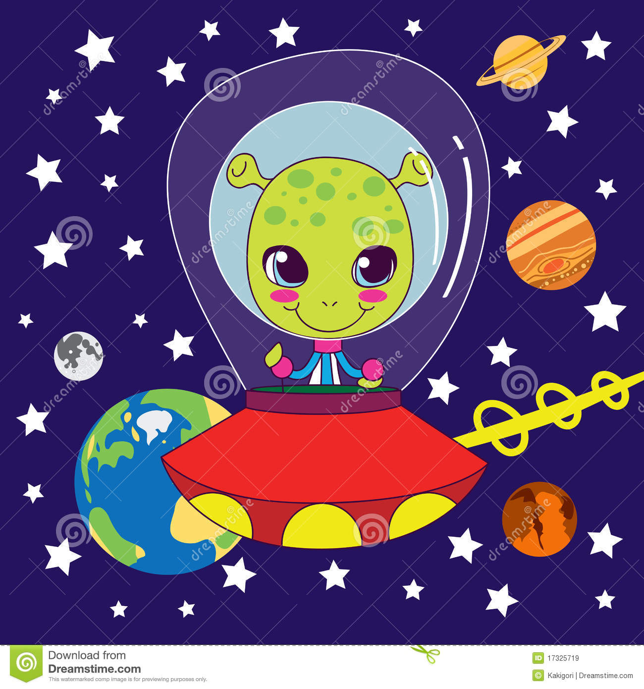 Cute Alien Royalty Free Stock Images Image 17325719