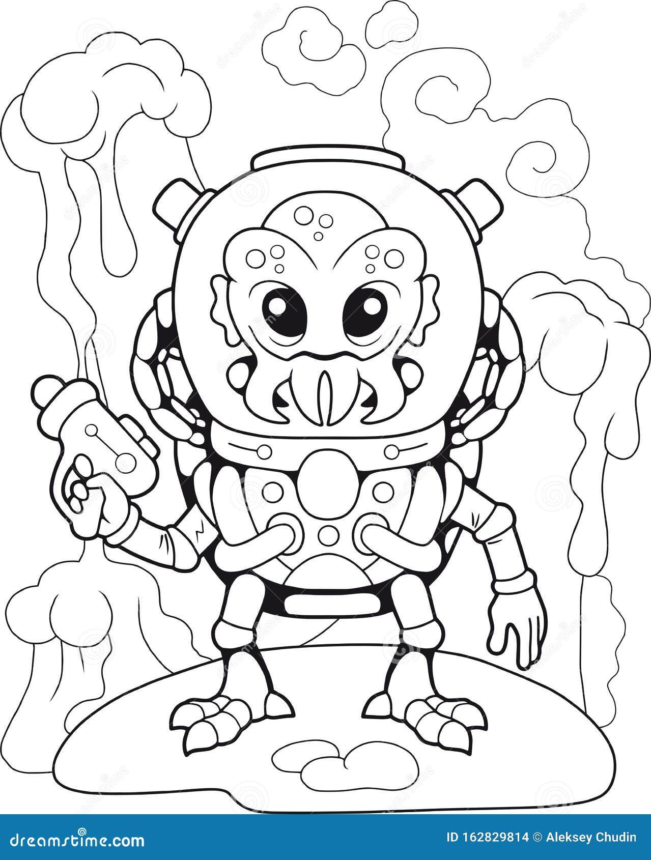 Alien Coloring Stock Illustrations 2 092 Alien Coloring Stock Illustrations Vectors Clipart Dreamstime