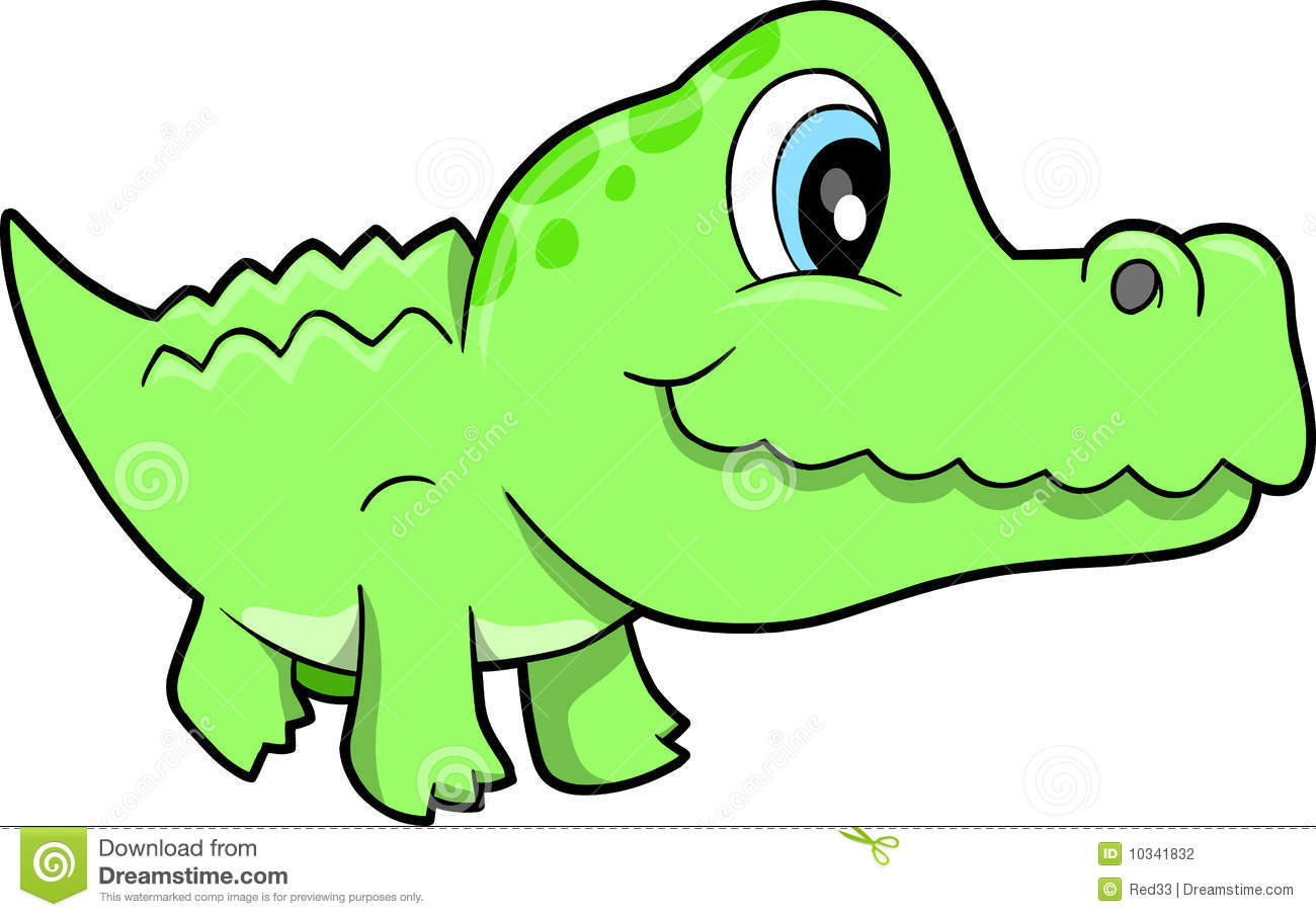 Cute Alligator Vector Illustration Stock Vector ...